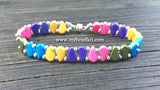 Paisley Beaded Bracelet Kit with 2-Hole Glass Beads (Electric Color Mix)