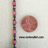Bead Stringing 101: Beaded Bracelet Making Kit (Pink Rose glass beads)