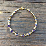 SOLD OUT! Bead Stringing 101: Beaded Bracelet Making Kit (Purple glass beads)
