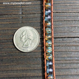 NEW! Earthy Translucent Mix! 6mm Glass Bead Wrap Bracelet Kit