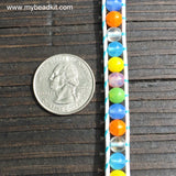 Summertime Mix! 6mm Glass Bead Wrap Bracelet Kit