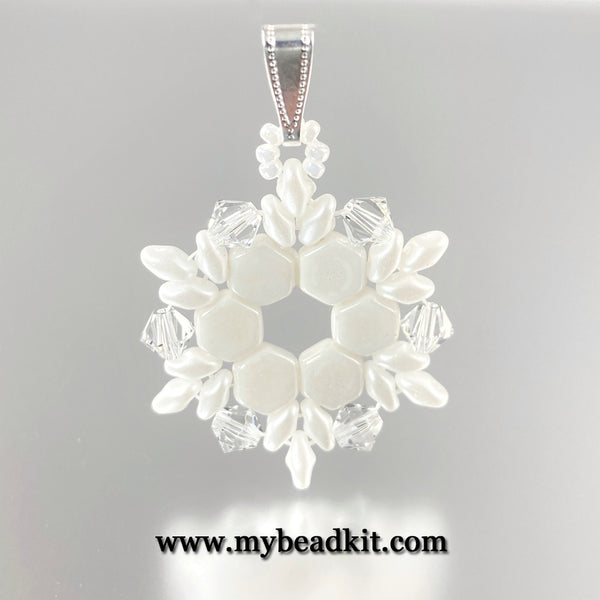 Beaded Snowflake Pendant