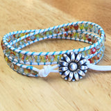 SOLD OUT! Faceted Vintage Style Glass Bead Wrap Bracelet Kit (Double wrap)