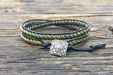 NEW! Leather Wrap Bracelet Kit - Double Wrap - Superduo 2-hole Glass Beads - Ladder Stitch - Green
