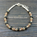 Bali-Style Bracelet Kit - Bead Stringing 101: Black