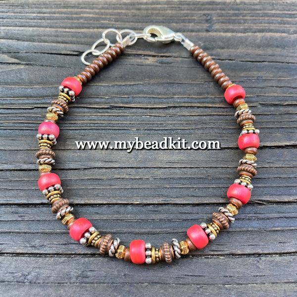 New! Bali-Style Bracelet Kit - Bead Stringing 101: Coral