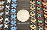 Chevron Beaded Bracelet Kit with 2-Hole Glass Beads (Blue Mix)