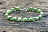 Sweet Candy! Beaded Bracelet Kit with 2-Hole Glass Beads (Light Olive Green)