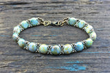 Sweet Candy! Beaded Bracelet Kit with 2-Hole Glass Beads (Terra Blue)