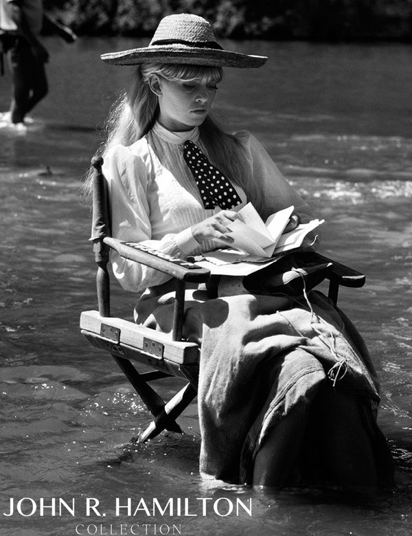 Brigitte Bardot relaxing between takes in the river during the filming of Viva Maria.  Cuaulta,Mexico.  [1964]