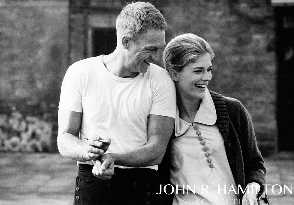 "Candice Bergen and Steve McQueen have a laugh while rehearsing on the set of ""The Sand Pebbles.""  Taiwan.  [1966]"