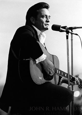 Johnny Cash playing Guitar, circa 1982