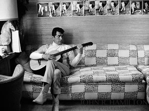 Dean Martin playing guitar, 1966