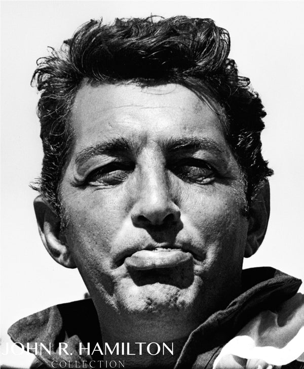 "Dean Martin close-up on the set of ""Sergeants 3"" outside of Las Vegas, NV.  [1961]"