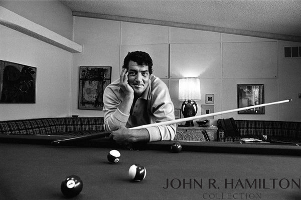 Dean Martin in his game room at home in Beverly Hills, CA.  1966