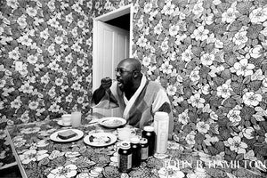 Isaac Hayes, breakfast nook at home, Los Angeles, CA [1971]