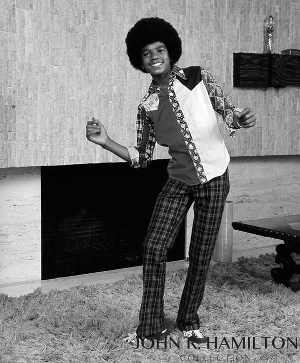 Michael Jackson dancing in his living room, Encino, California, 1974