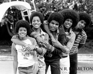 Jackson 5 at home in Encino, California, 1974