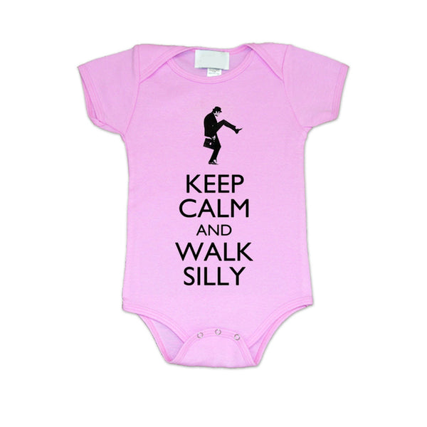 Walk Silly Pink Baby Bodysuit