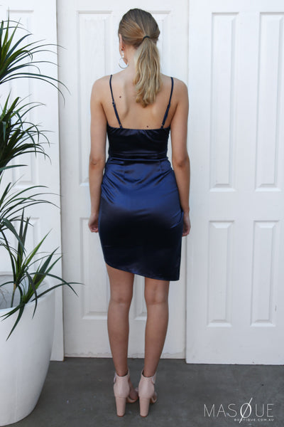 harlow dress in navy