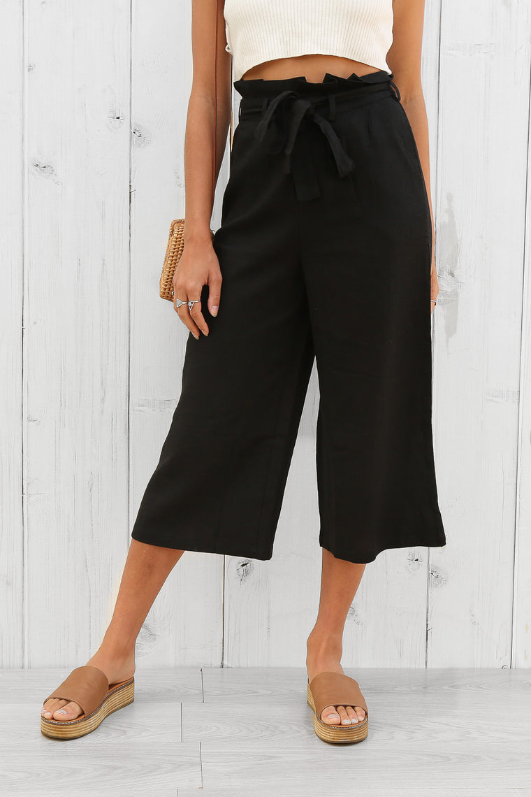 minogue culottes in black