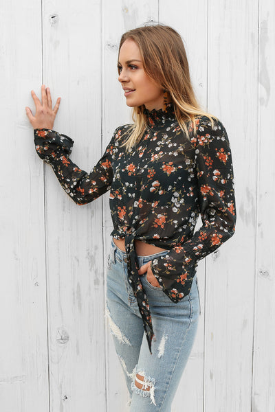 lance top in floral
