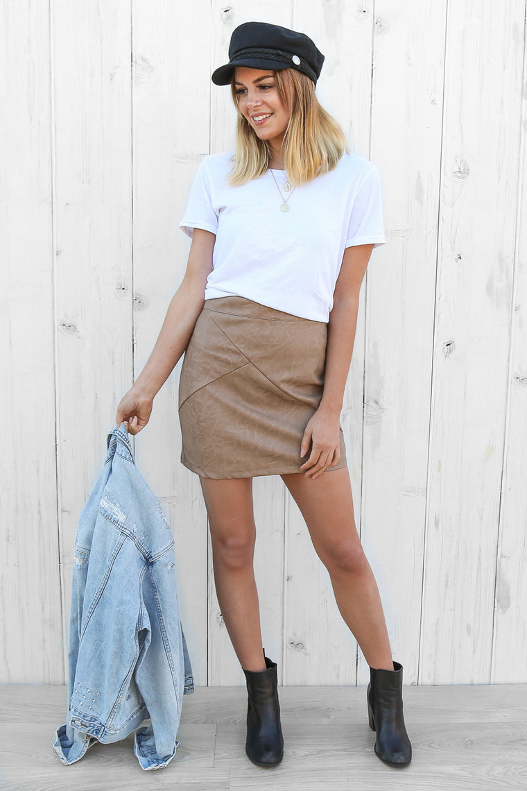 agrarian skirt in beige