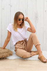 lane way pants in beige