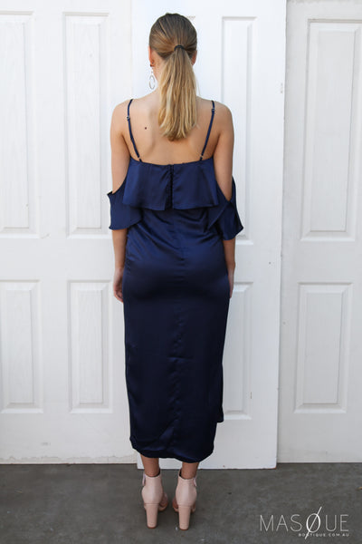 lalita dress in navy by runaway