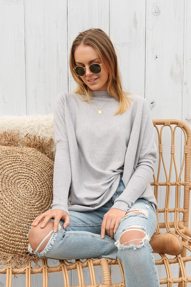 oyster jumper in grey