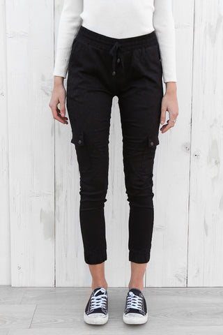 flight pants in black