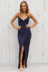 SALE- Beth wrap dress in navy by bariano