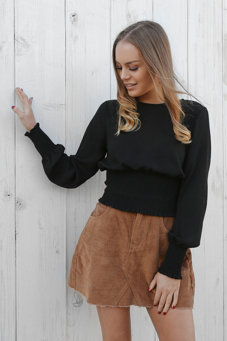 miranda blouse in black