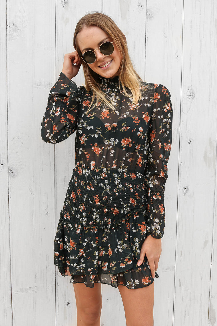 lance dress in floral