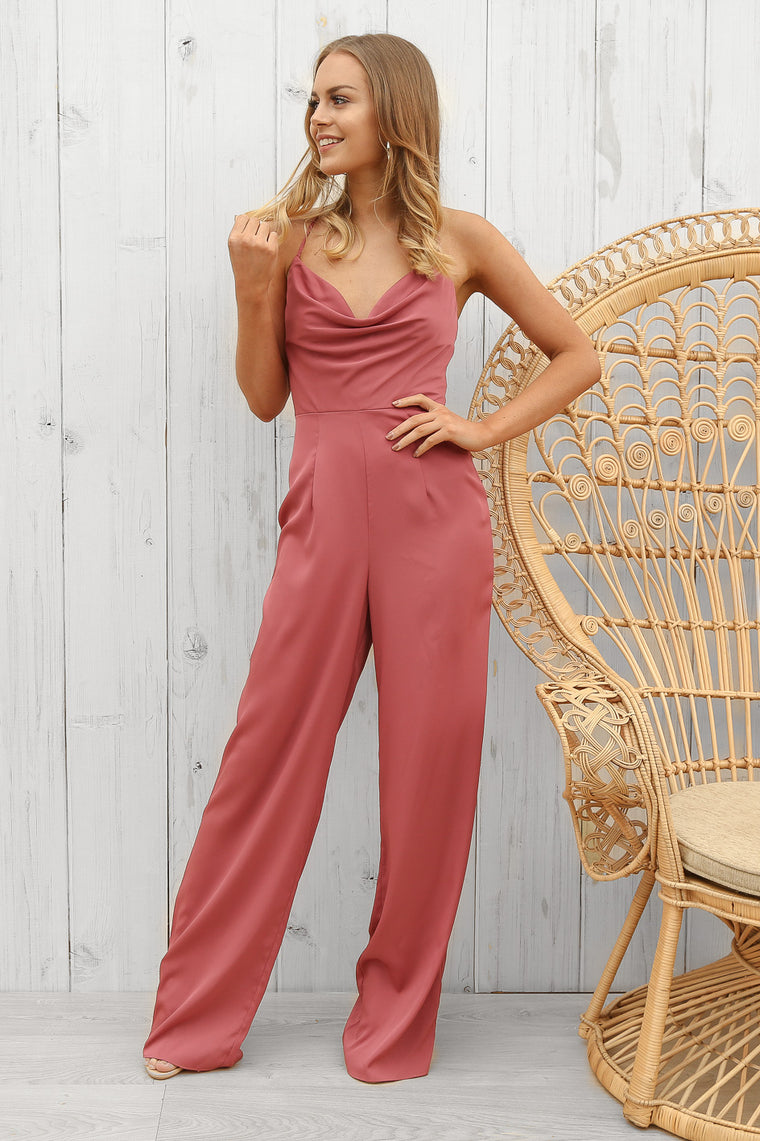 Astrid jumpsuit in pink by bariano