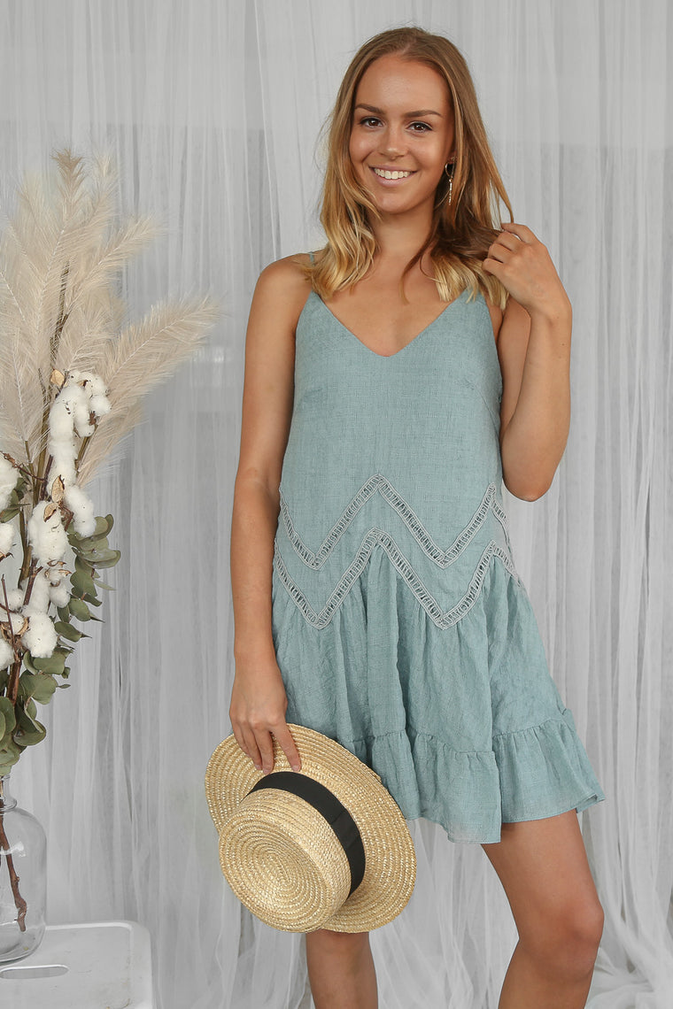 chase dress in mint