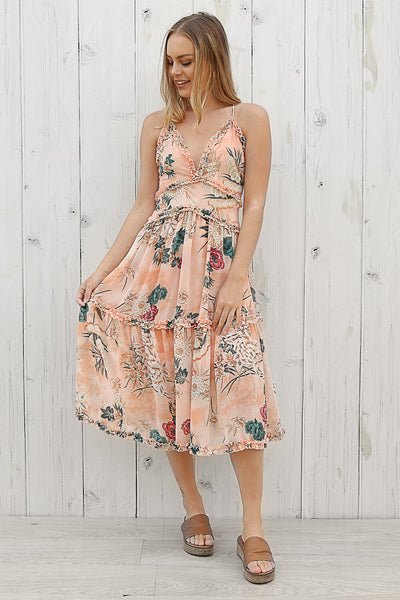 chance midi dress in floral