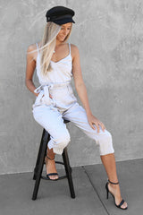earl jumpsuit in grey
