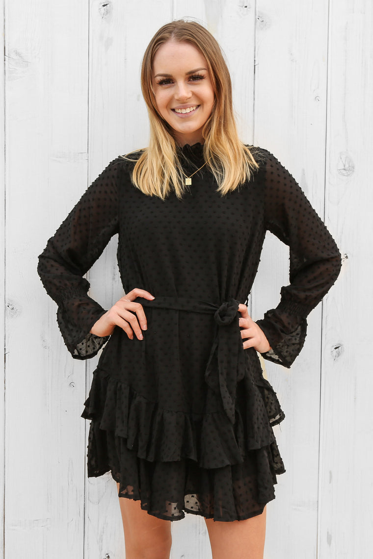 cove dress in black