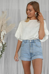 lucinda top in white