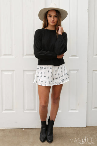 midnight sky shorts in white by the fifth
