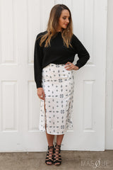 SALE - midnight sky skirt in white by the fifth