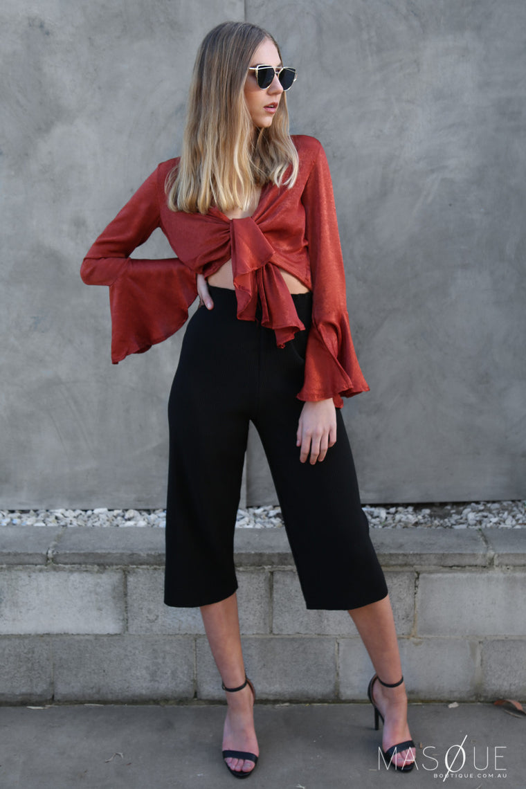 limerence culottes in black