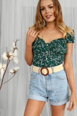primrose top in green