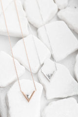 tanya necklace in marble