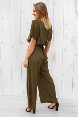 Georgia Jumpsuit in khaki