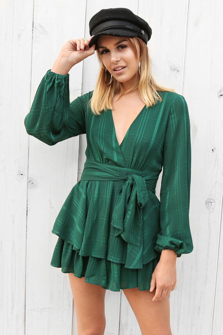 stream playsuit in teal