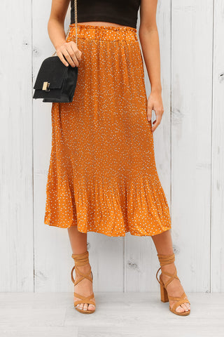 rochelle skirt in mustard