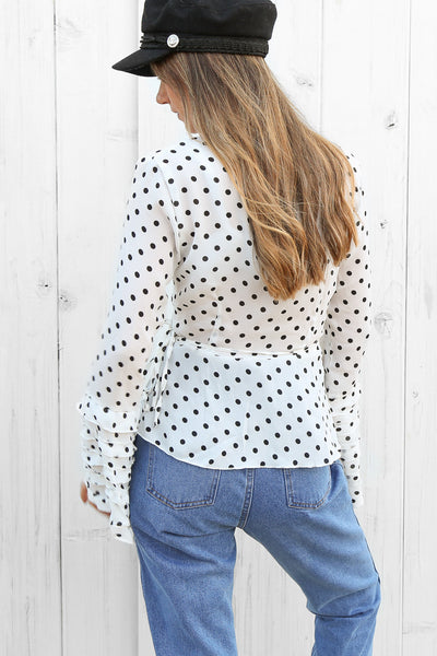 cosmic wrap top in white