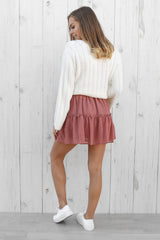 true mini skirt in pink